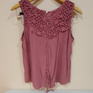 Romeo and Juliet couture cultur tie up lace blouse